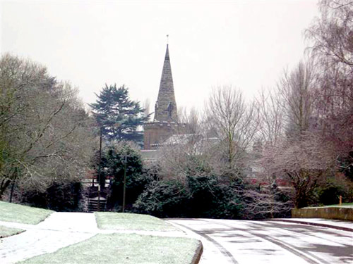 Newton Solney in winter